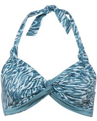Linea Weekend | Mystic Cooley Twist Front Halter Bikini | Lyst