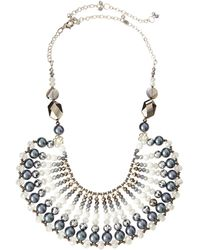 Nakamol Crystal And Pearl Bib Necklace - Lyst