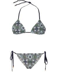 Tory Burch Laguna Reversible Triangle Bikini - Lyst