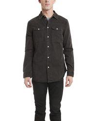 BLK DNM Franklin Western Shirt gray - Lyst