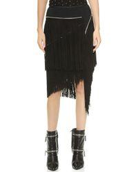 Jay Ahr - Fringe Skirt - Black - Lyst