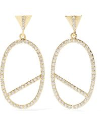 Kevia - Gold-plated Crystal Earrings - Lyst