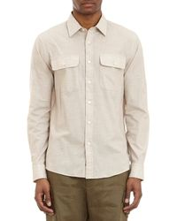 Michael Kors Flap Pocket Shirt - Lyst