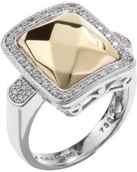 Charriol Women'S 18K White And Yellow Gold Facet Diamond Ring - Lyst