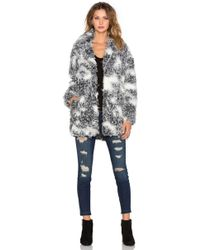 IKKS - Faux Fur Coat - Lyst