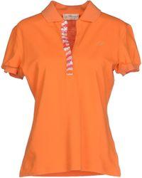 Blumarine Polo Shirt orange - Lyst