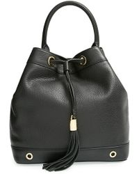 Milly Women'S 'Astor' Pebbled Leather Bucket Bag - Black - Lyst