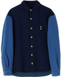 Pigalle Long Sleeve Shirt blue - Lyst