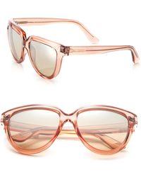 Valentino | Rockstud 57mm Plastic Cat's-eye Sunglasses | Lyst