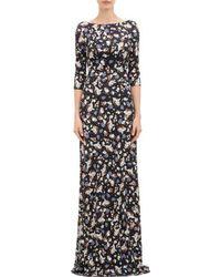 Erdem Floral Jersey Valentina Gown - Lyst