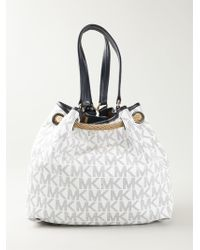 MICHAEL Michael Kors 'Camden' Bucket Bag white - Lyst
