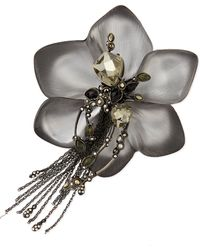 Alexis Bittar Lace Flower Tassel Pin - Lyst