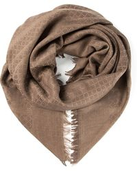 Gucci Diamond and Square Embroidered Scarf - Lyst