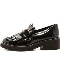 Ash Nico Tassle Fringe Loafer  Black - Lyst