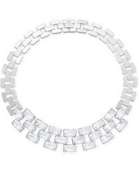 Swarovski - Stainless Steel Crystal Link Necklace - Lyst