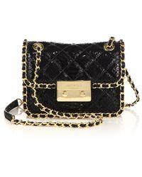 MICHAEL Michael Kors | Carine Medium Quilted Snake-embossed Patent Leather Shoulder Bag | Lyst