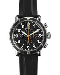 Shinola - 48mm Runwell Sport Chronograph Watch With Rubber Strap - Lyst