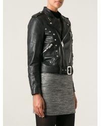 Saint Laurent Studded Biker Jacket - Lyst