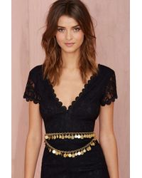 Nasty Gal B-low The Belt Token Coin Belt - Lyst