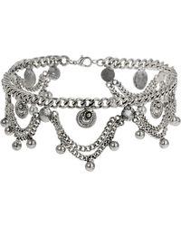 Topshop Drape Chain Choker  Silver - Lyst