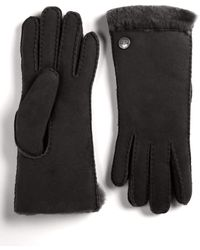 Ugg Logobutton Sheepskin Gloves - Lyst