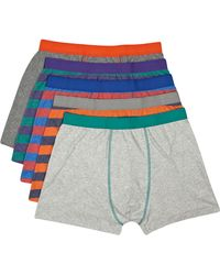 River Island Multicoloured Stripe Boxer Shorts Pack - Lyst