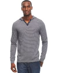 Kenneth Cole Reaction Henley Hoodie - Lyst