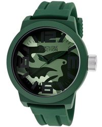 Kenneth Cole Reaction - Mens Green Camouflage Dial Green Rubber - Lyst