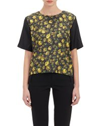 Boy by Band of Outsiders Floral Twill T-Shirt - Lyst