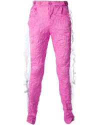 Bernhard Willhelm Pink Crashed Trouser - Lyst