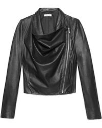 Helmut Lang Kiln Leather Drape Jacket - Lyst