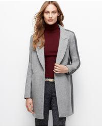Ann Taylor Notch Collar Colorblock Coat - Lyst