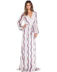 Marchesa Voyage - Maxi Wrap Dress - Lyst