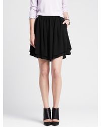 Banana Republic Crepe Shaped-hem Skirt - Lyst