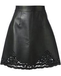 Dolce & Gabbana Lambskin Skirt - Lyst
