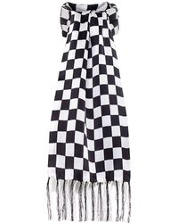 Tootal - Silk Chequered Flag Scarf - Lyst