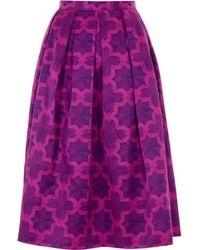 House Of Holland Parquet Purple Dirndl Skirt - Lyst