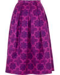 House Of Holland Parquet Purple Dirndl Skirt - Lyst