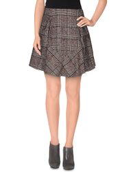 Carven Knee Length Skirt brown - Lyst