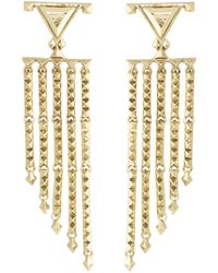 House Of Harlow 1960 Tres Tri Fringe Earrings - Lyst