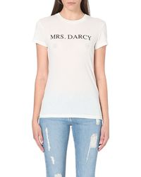 Wildfox Mrs Darsy Cottonjersey Tshirt Vintage Lace - Lyst