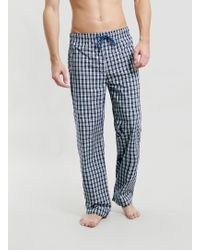 Topman Blue Tiny Check Woven Pyjama Bottoms - Lyst