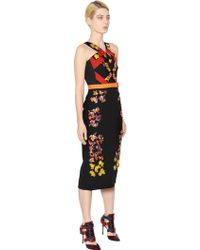 Peter Pilotto Embroidered Wool Crepe Dress - Lyst