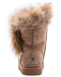 Koolaburra - Trishka Fur Booties - Seta - Lyst