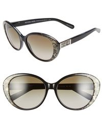 Michael Kors Collection 57Mm Cat Eye Sunglasses - Lyst