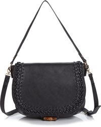 Big Buddha - Hana Whipstitch Crossbody Messenger Bag - Compare At $80 - Lyst