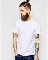 American Apparel Wide Stripe T-Shirt white - Lyst