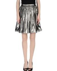 Alice + Olivia Knee Length Skirt silver - Lyst