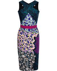 Peter Pilotto Ln Printed Crepe-Jersey Dress - Lyst