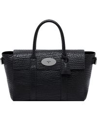 Mulberry Bayswater Buckle Leather Tote Black - Lyst
